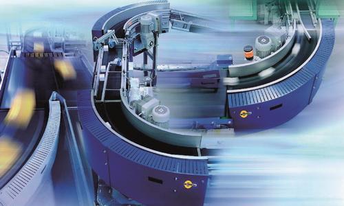 智能减速电机助力物料运输