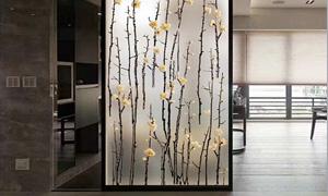 艺术玻璃隔断的材质与风格