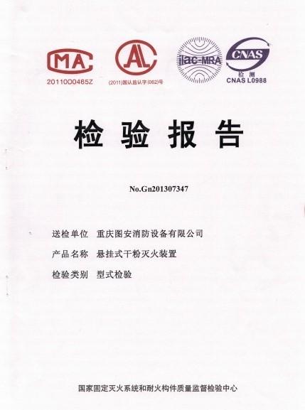 检测报告(非贮压悬挂)