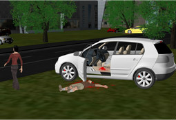 交通事故现场模拟复原分析系统
