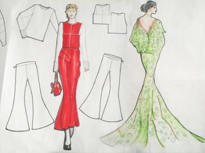 服装设计-学生手绘