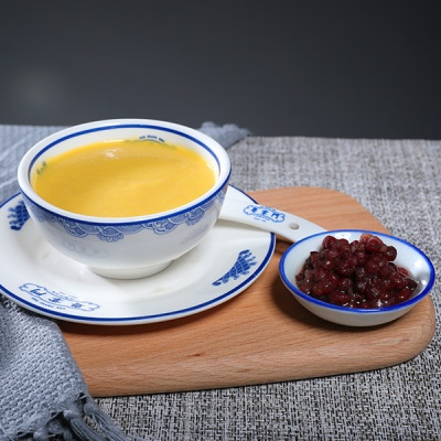 炒蛋奶+红豆