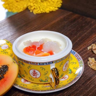 牛奶木瓜炖雪蛤