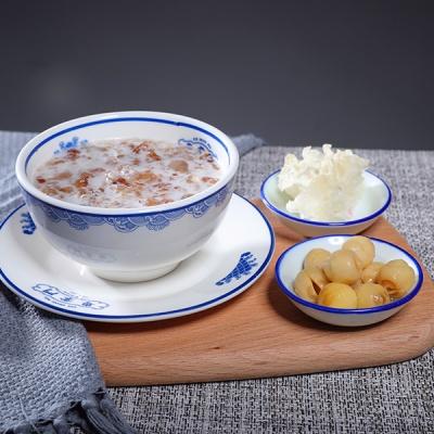 桃胶炖奶+银耳+莲子