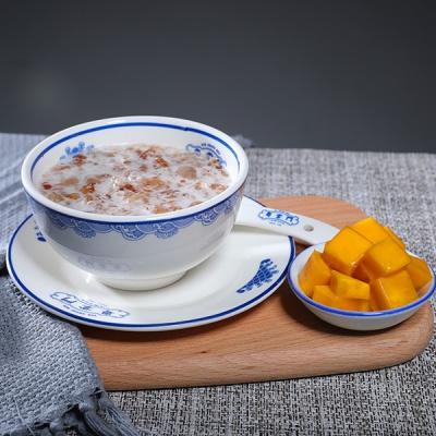 桃胶炖奶+芒果
