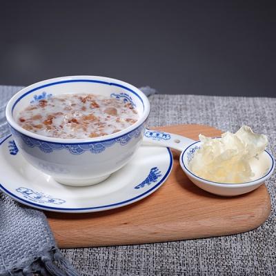 桃胶炖奶+银耳