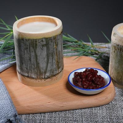 原只竹筒炖奶+红豆