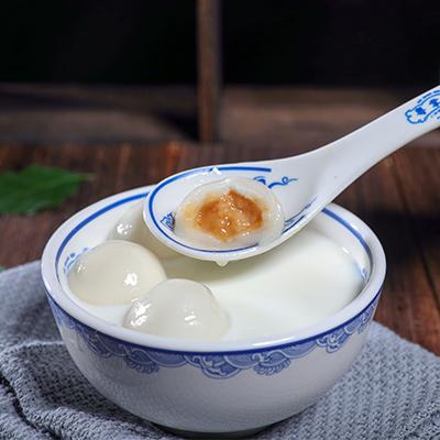 牛奶花生汤圆