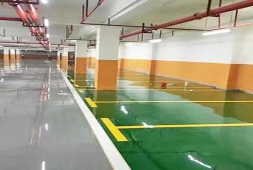 廣州裝修公司地下車庫地坪漆工程 提供地板定制安裝,鎖扣地板,pvc塑膠地板,地坪自流平服務