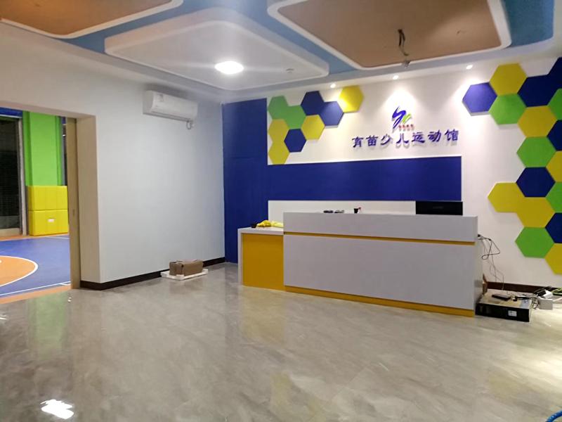 籃球場PVC運動塑膠地板施工案例-少兒運...