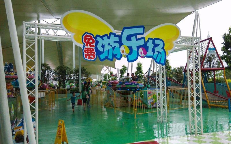 游樂園地坪漆與pvc地板升級施工案例