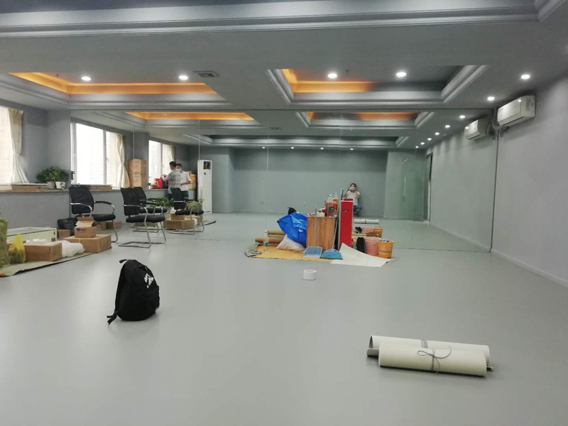 廣州舞尊PVC舞蹈地板安裝施工圖組-美居...
