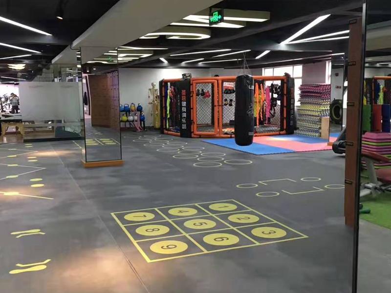 健身房運動地板360定制地膠,PVC運動...