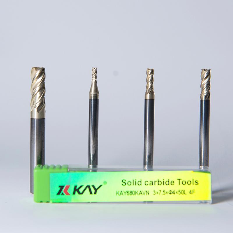 KAY680KAVN不等距导程不绣钢钛合金专用铣刀-适应精铣