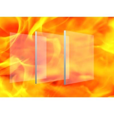 非隔熱防火玻璃