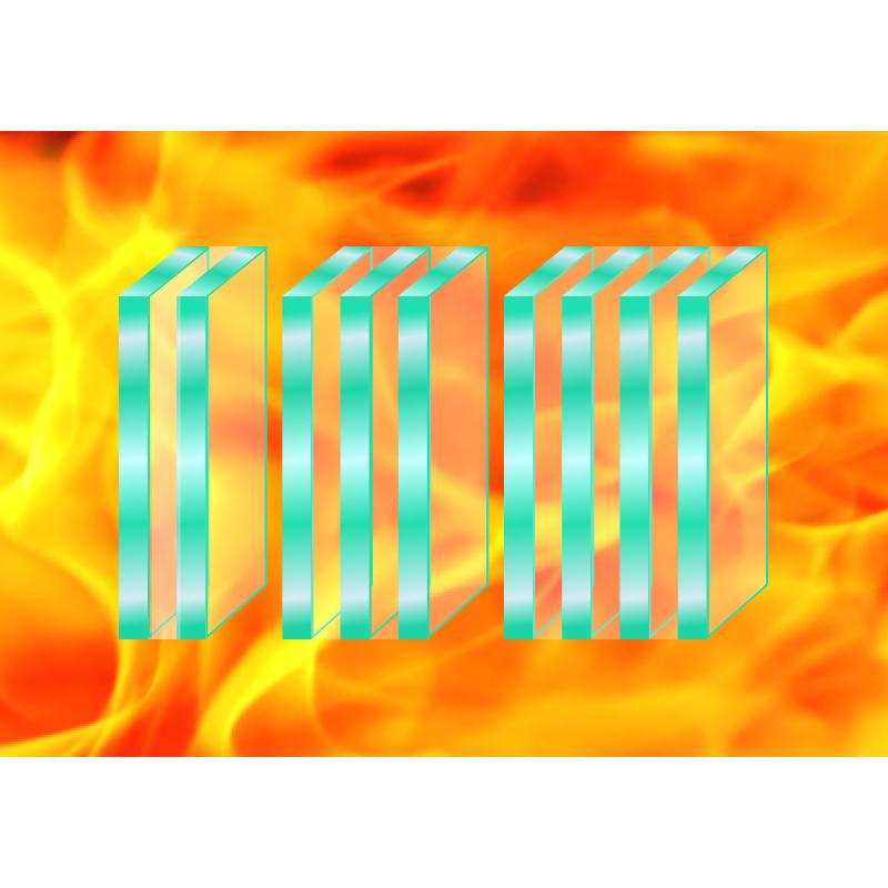 新型硅类复合隔热型防火玻璃