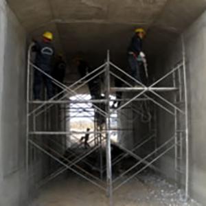 浙江大唐乌沙山电厂循环水道堵漏