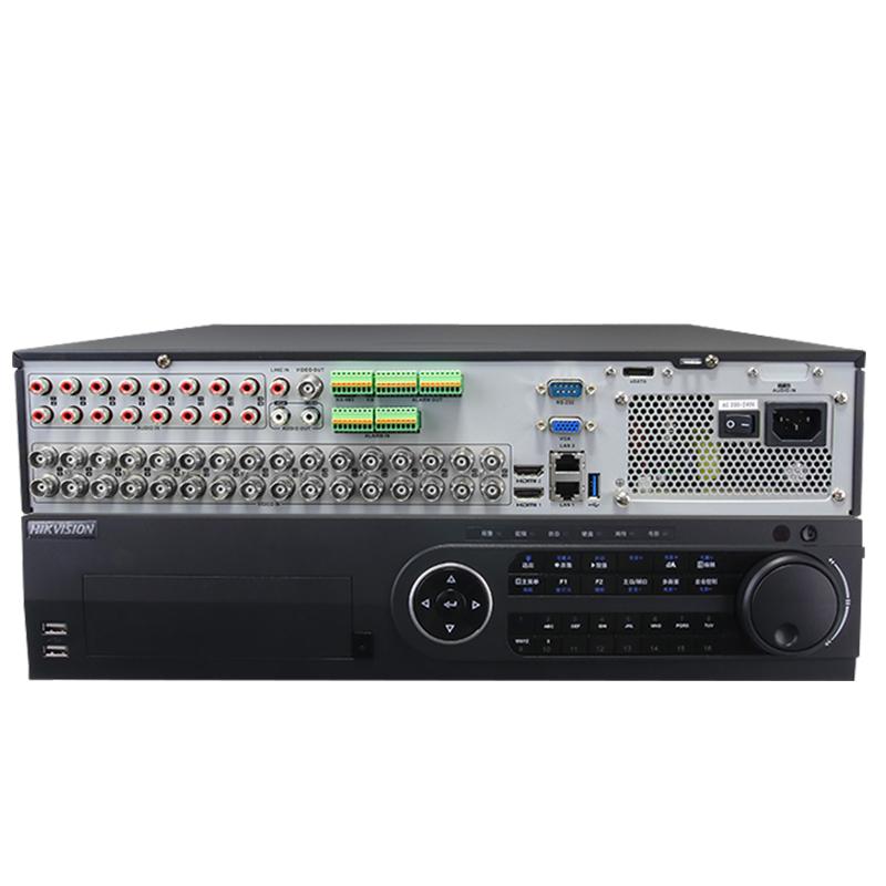 热销海康威视 DS-8832HQH-K8 32路同轴模拟混合硬盘录像机 八盘位