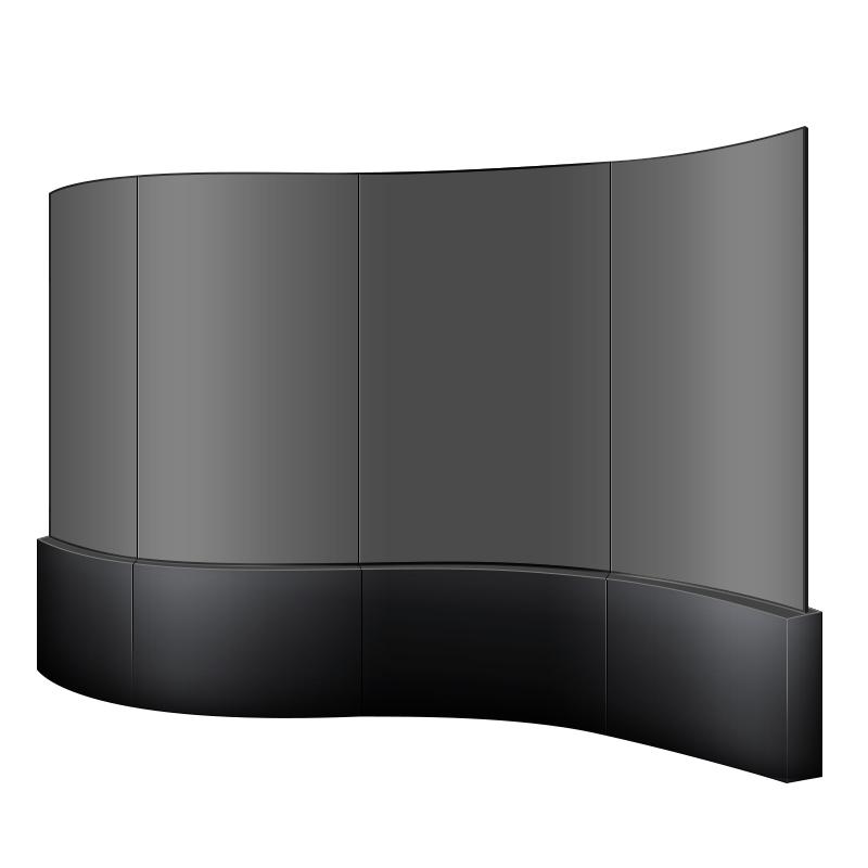 OLED液晶拼接屏高清曲面显示器柔性超薄壁纸屏展厅弧形电视墙55寸