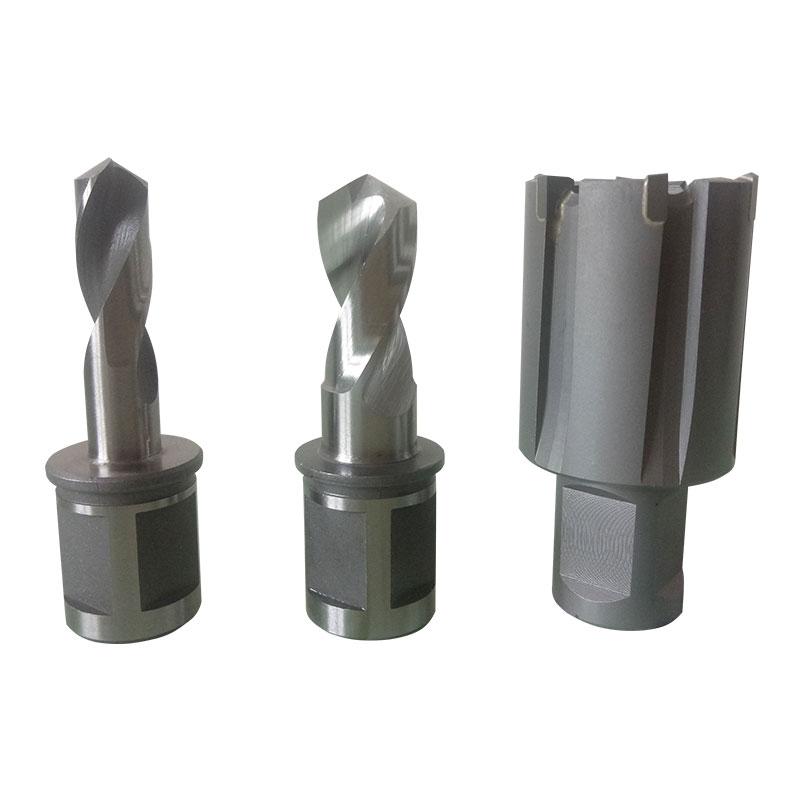 超值铁路打钢轨专用空心硬质合金优质实心高速钢材质铁轨开孔钻头