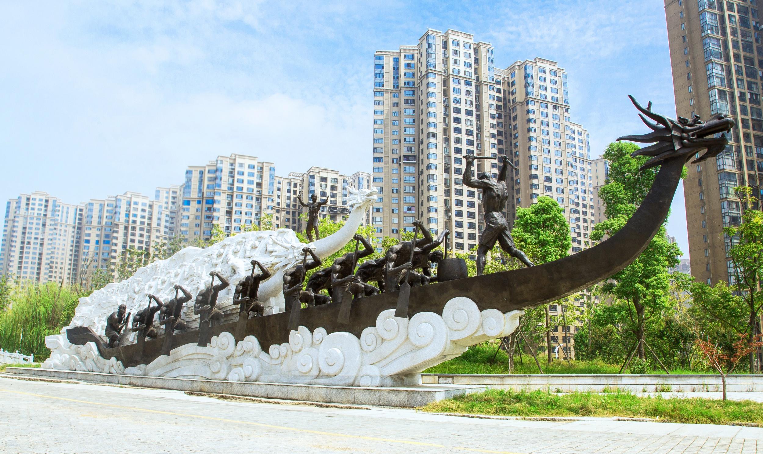 浏阳河风光带赛龙舟雕塑工程