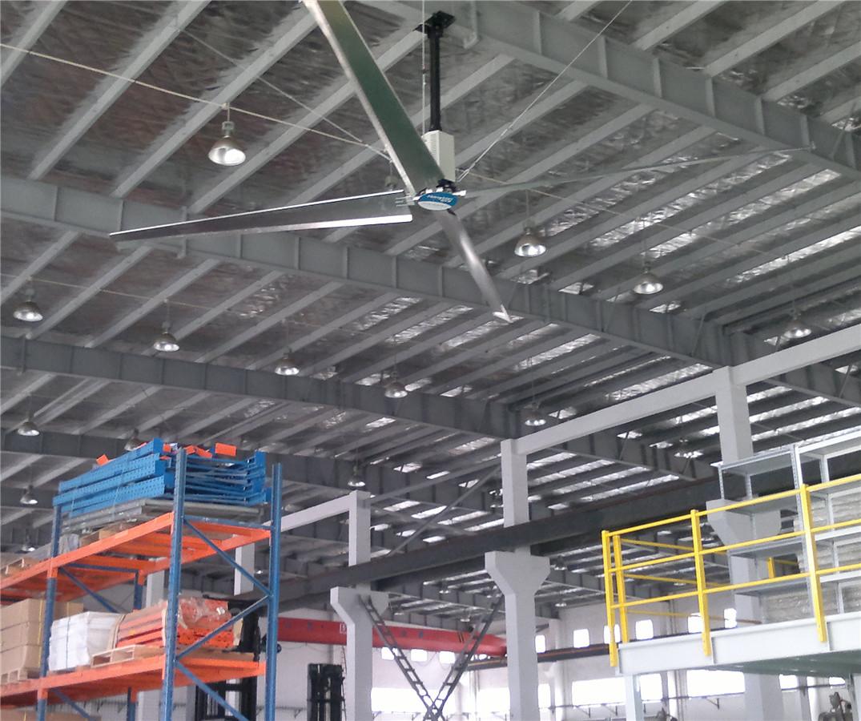 仓储环境通风降温运用工业节能大风扇解决方案