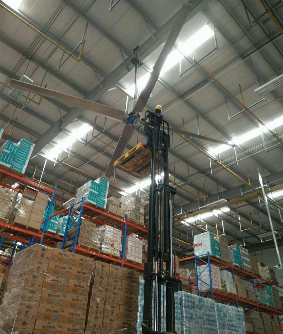 普洛斯华南物流配送中心基地安装土禾风机与工业大风扇应用案例