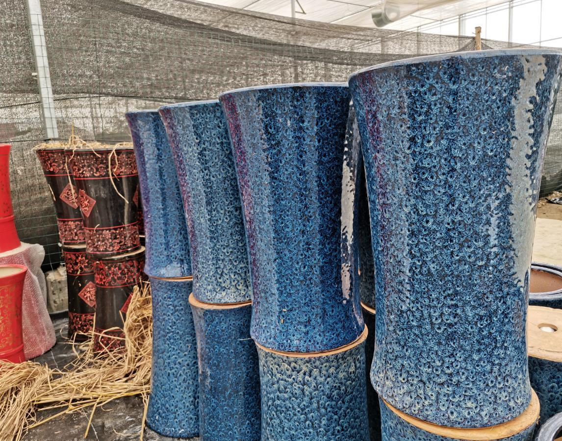 藍色精品盆
