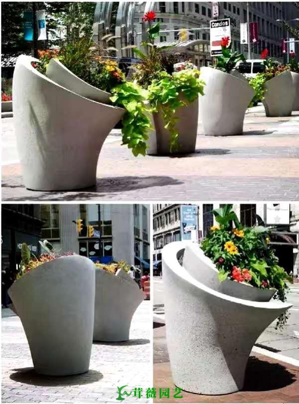 藝術玻璃鋼花盆 (5)