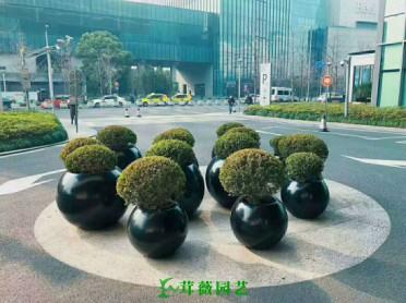 藝術玻璃鋼花盆 (1)