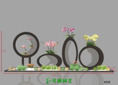 鐵藝花架 (2)