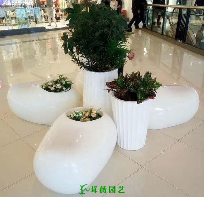 藝術玻璃鋼花盆 (2)