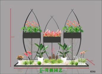 鐵藝花架 (3)