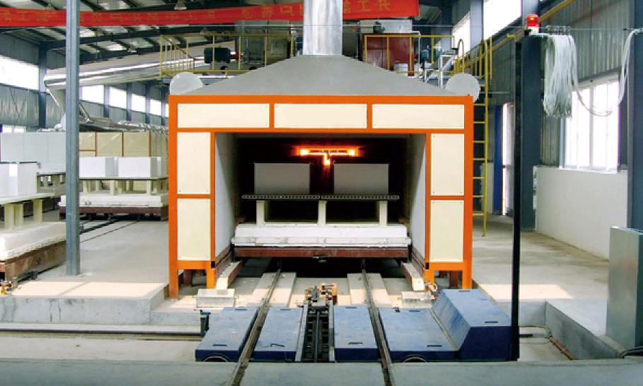 太阳能硅板石英坩埚燃气隧道窑