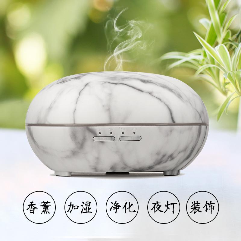 廠家直銷超聲波香薰擴散機 家用空氣加濕器 創意木紋七彩加濕器