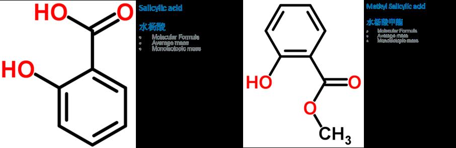 水杨酸(SA)和水杨酸甲酯(MeJA)的化学方程式