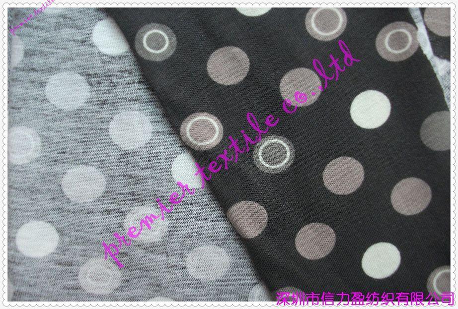 全棉针织活性印花布