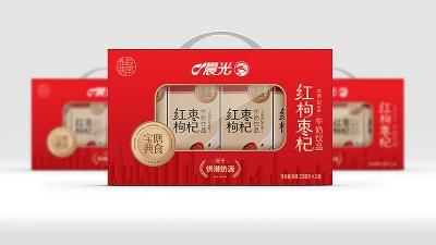 晨光红枣枸杞牛奶包装