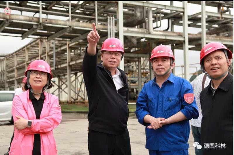 王世杰副省长到贵州开阳化工调研科林干煤粉气化技术