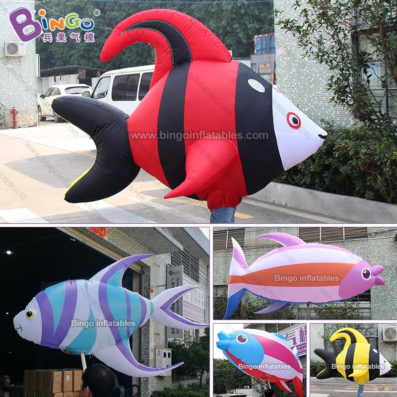 BG-O0091-充气行走红色鱼气模