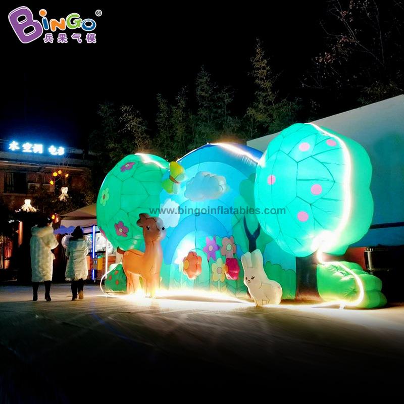 BG-Z0066-充气森林灯光背景墙气模