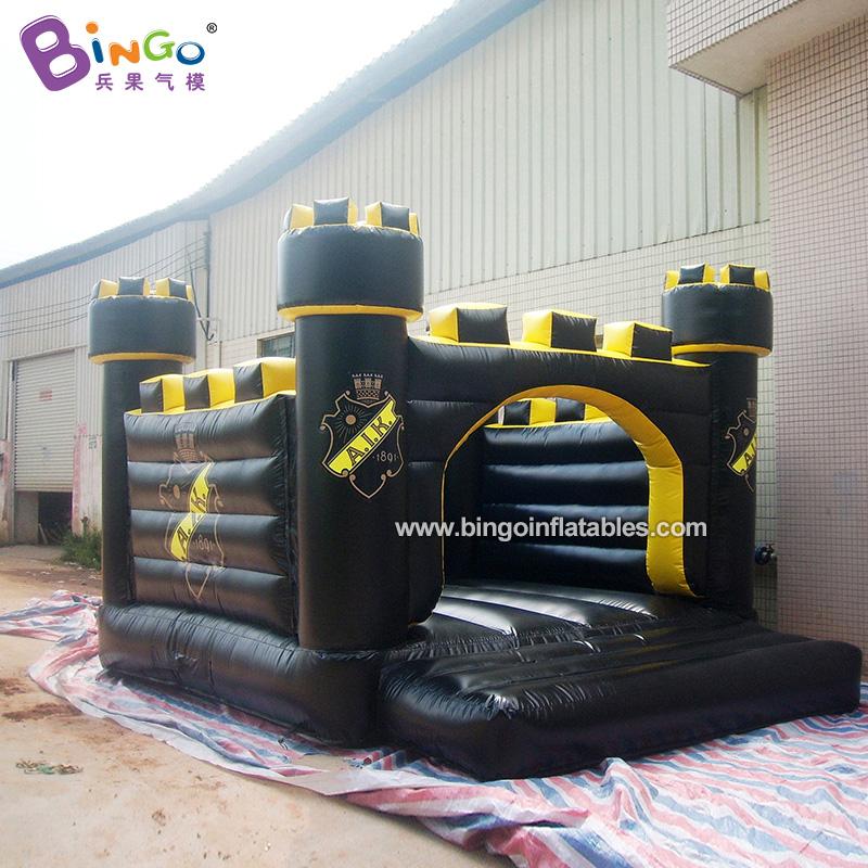 BG-G0516-充氣黑色城堡蹦床氣模