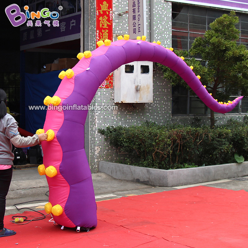 BG-O0106-充气紫色双吸盘章鱼腿气模