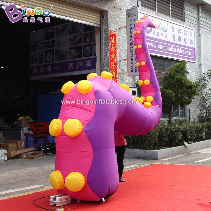 BG-O0110-充气紫色双吸盘章鱼腿气模