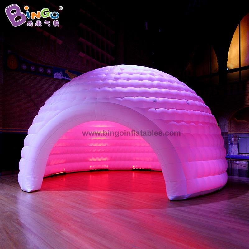 BG-T0195-充氣半圓燈光帳篷氣模
