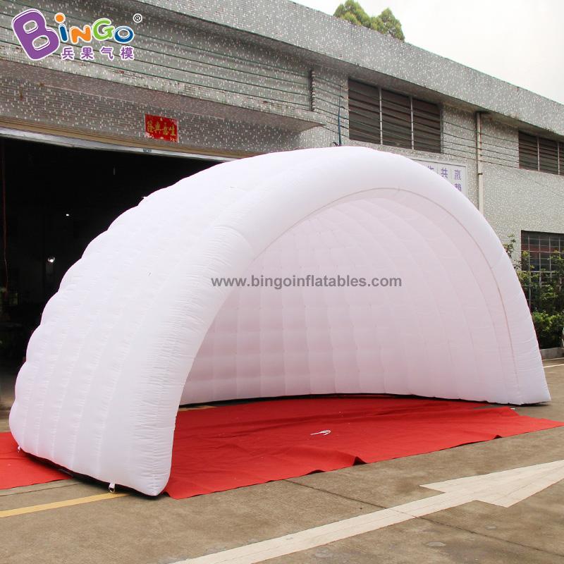 BG-T0234-充氣白色半圓燈光帳篷氣模