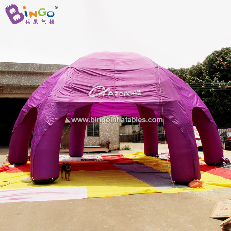 BG-T0228-充氣紫色6腳帳篷氣模