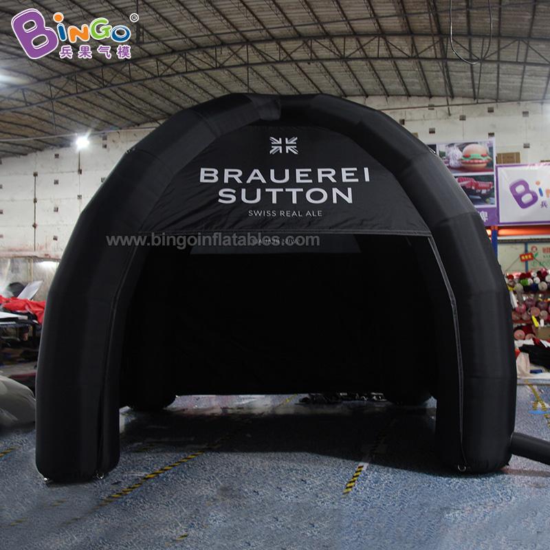 BG-T0224-充氣黑色4腳帳篷氣模