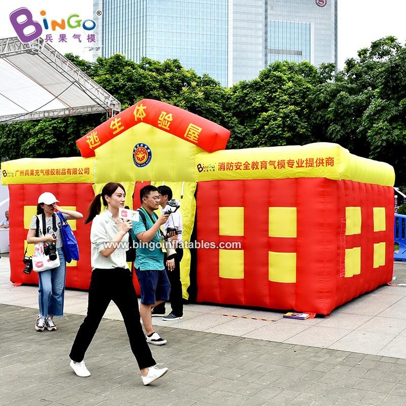 BG-X0245-充氣學校樓消防帳篷氣模