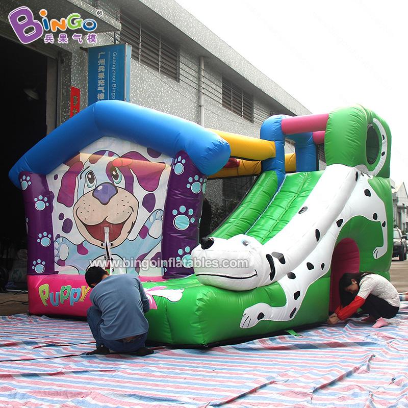 BG-A0952-充气狗头蹦床滑梯玩具气模
